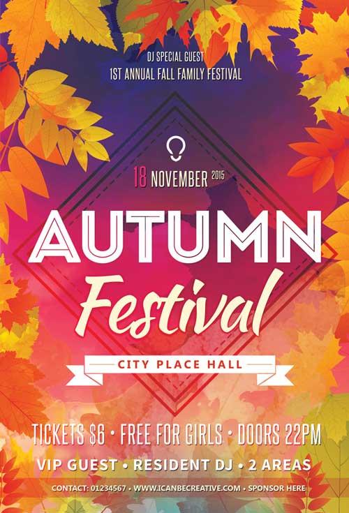 Autumn Celebration Free PSD Flyer
