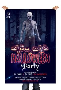 Halloween Party #2 – Free PSD Flyer