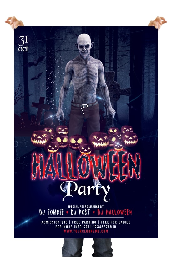 Halloween Party #2 Free PSD Flyer