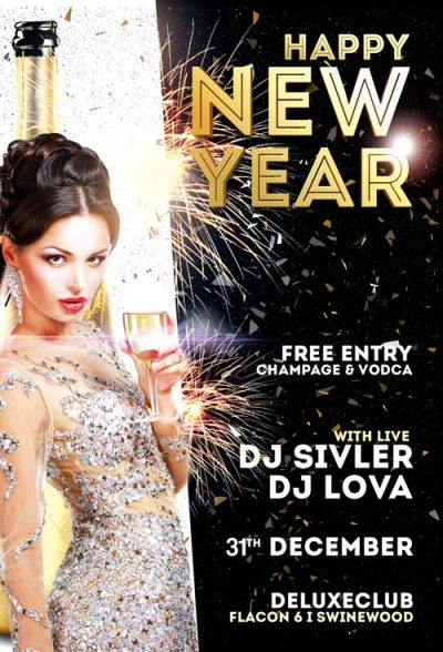 Happy New Year Free PSD Flyer Template