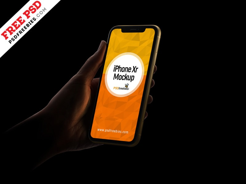 Apple iPhone Xr Free PSD Mockup Template