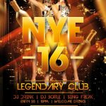 Legendary NYE 2019 Free PSD Flyer Template