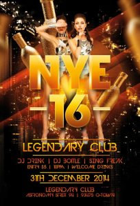 Legendary NYE 2019 – Free PSD Flyer Template