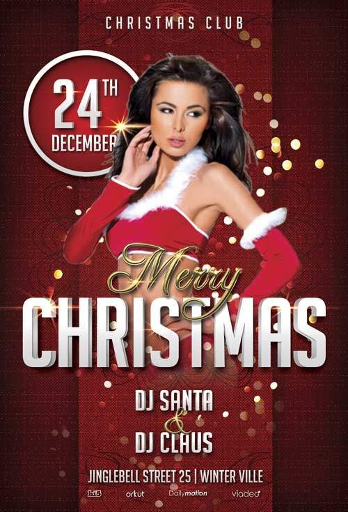 Christmas Party Free Psd Flyer Template Stockpsd