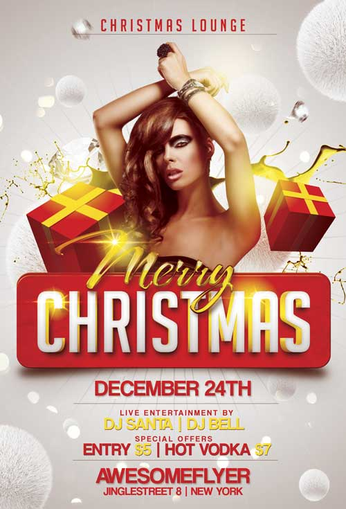 Merry Xmas – Free PSD Flyer Template