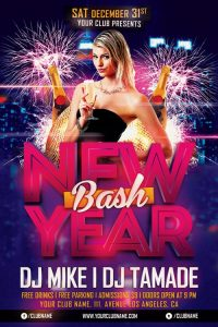 New Year Bash – Free PSD Flyer Template