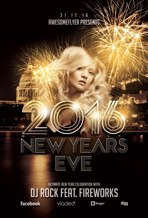 New Year Celebration – Free PSD Flyer Template