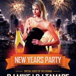 New Year Party 2019 - Free PSD Flyer Template