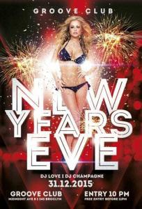 New Years Eve Party – Free PSD Flyer Template