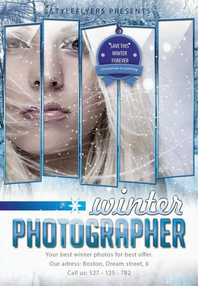 Winter Photographer Free PSD Flyer Template