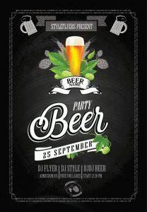 Beer Fest #2 Minimal – Free PSD Flyer