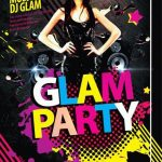 Glam Party Free PSD Flyer Template