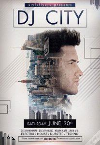 DJ City – Free PSD Flyer Template