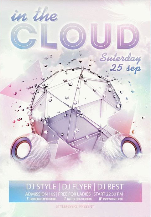 In Cloud Free PSD Flyer Template