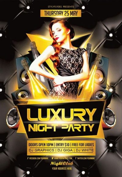 Luxury Night Free PSD Flyer Template