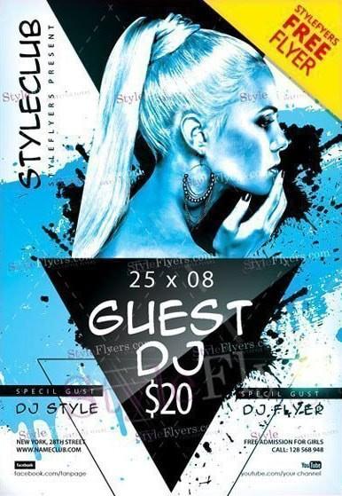 Guest DJ Free PSD Flyer Template