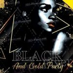 Black And Gold Party – Free PSD Flyer