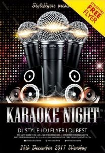 Karaoke Night – Free PSD Flyer