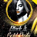 Black and Gold Night - Free PSD Flyer