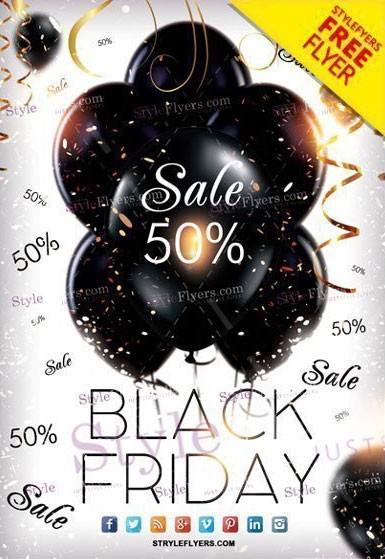 Black Friday #2 Free PSD Flyer Download