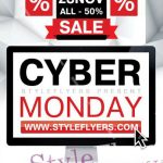 Cyber Monday – Free PSD Flyer