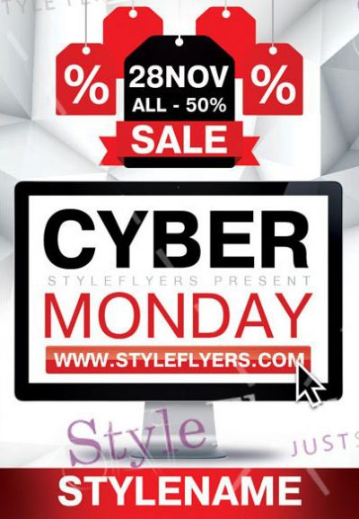Cyber Monday Free PSD Flyer Template