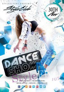 Dance Show – Free PSD Flyer