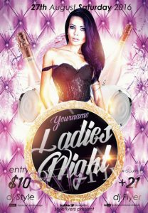 Ladies Night – Free PSD Flyer