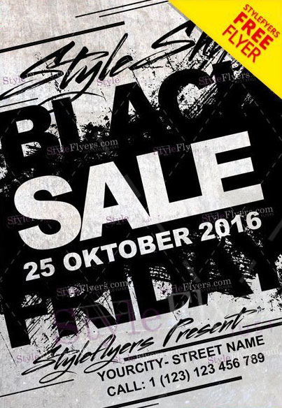 Black Friday Sale Free PSD Flyer Template