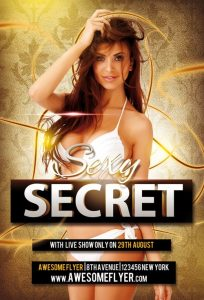 Sexy Secret – Free PSD Flyer