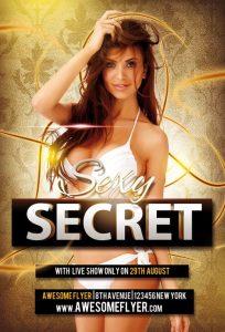 Sexy Secret – Free PSD Flyer