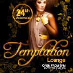 Temptation Lounge Free PSD Flyer Template