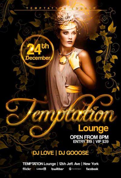 Temptation Lounge Free PSD Flyer Template