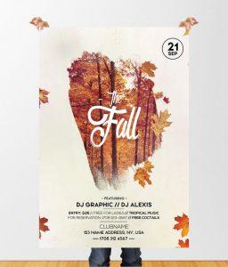 Fall Festival Autumn – Free PSD Flyer