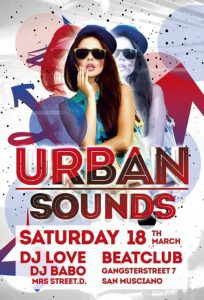 Urban Sounds Night – Free PSD Flyer Template