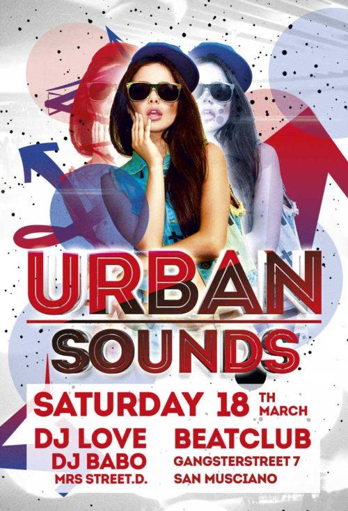 Urban Sounds Night – Free PSD Flyer Template
