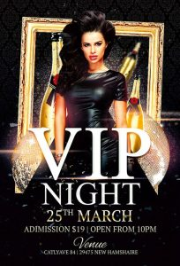 Vip Night – Free PSD Flyer Template