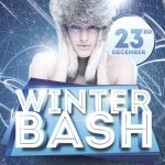 Winter Bash Free PSD Flyer Template