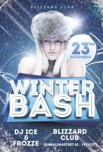 Winter Bash – Free PSD Flyer Template
