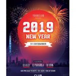 Happy NYE 2019 Free PSD Flyer Template
