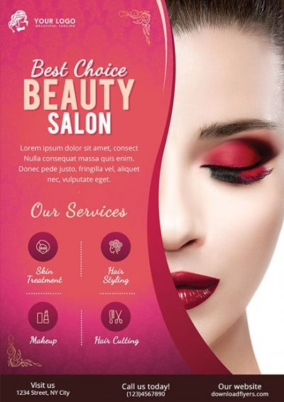 Beauty Salon Free PSD Flyer Template