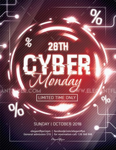Cyber Monday #2 Free PSD Flyer Template