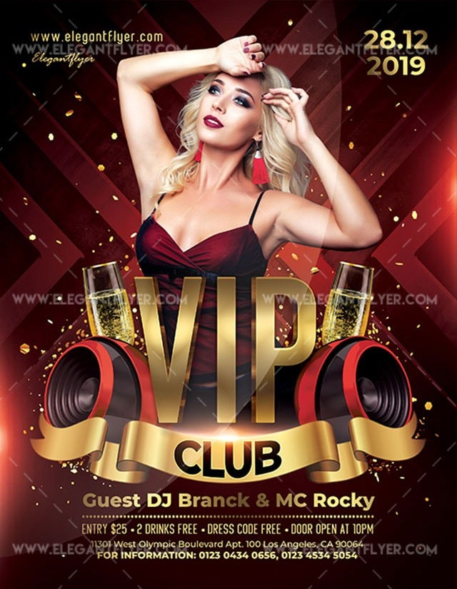 VIP Club Free PSD Flyer Template
