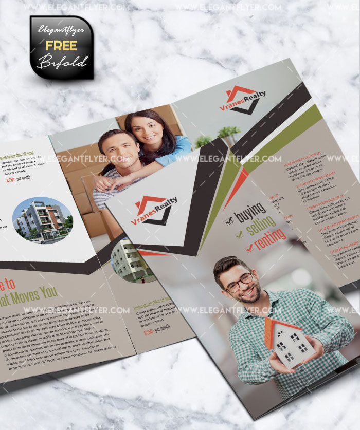 Real Estate - Tri-Fold Brochure Free PSD Template
