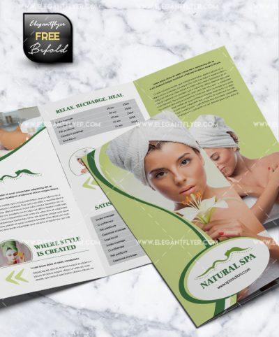 Spa Tri-Fold Brochure Free PSD Template