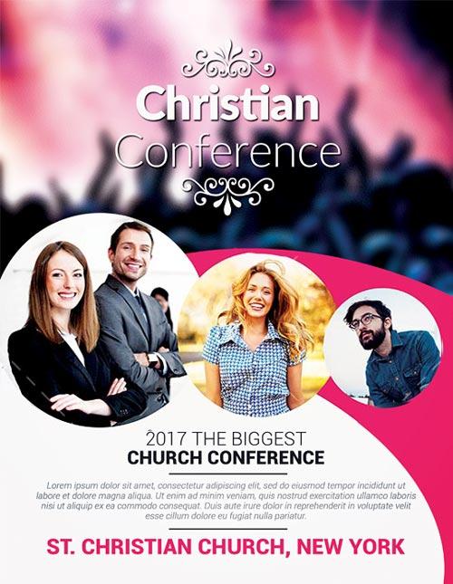Christian Conference Church Free PSD Flyer Template