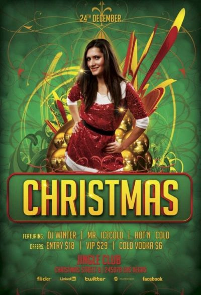 Christmas Bash Free PSD Flyer Template