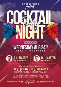 Cocktail Party – Free PSD Flyer Template