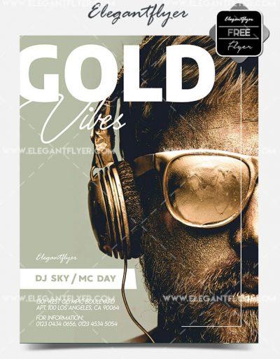 Golden Vibes Free PSD Flyer Template