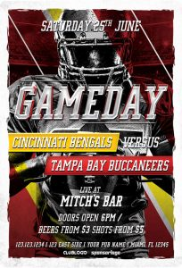 Football Game Day – Free PSD Flyer Template